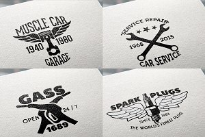 8 Retro Labels