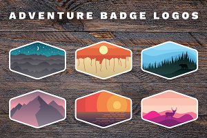 Outdoor Adventure Badge Logos