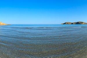 Sandy beach landscape, Albania
