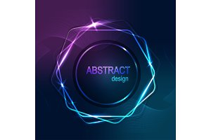 Abstract banner hexagone shine