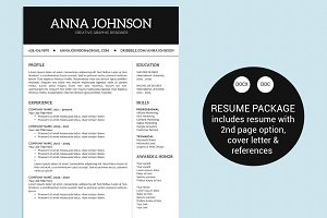 Simple Black & White Word Resume