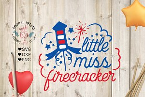 Little Miss Firecracker Cut File