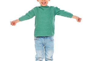 Child with green t-shirt
