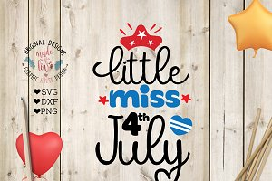 Little Miss 4th July Cutting File