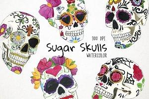 Sugar Skulls Clipart