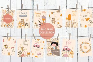 12 cute natural design cards3#