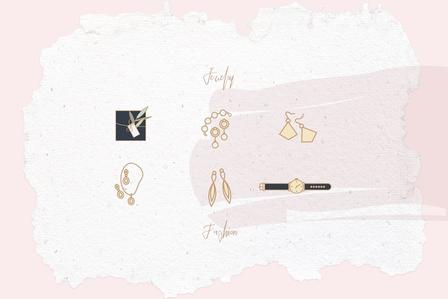 Beauty & Fashion Icon Pack in Graphics - product preview 12