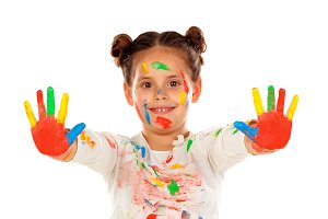 Happy painted child