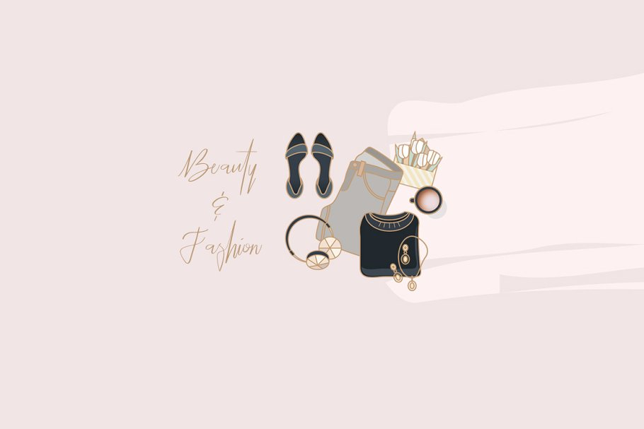 Beauty & Fashion Icon Pack in Graphics - product preview 8