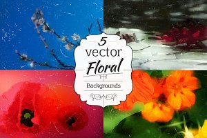 Floral Vector Backgrounds