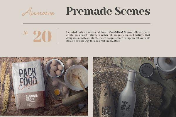 Product Mockups - PACK&FOOD Creator / topview