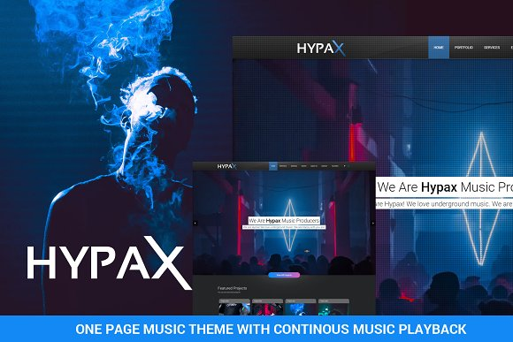 Hypax One Page Music Theme