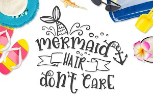 Mermaid Hair SVG DXF PNG EPS