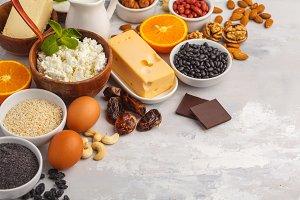 Assortment of high calcium sources