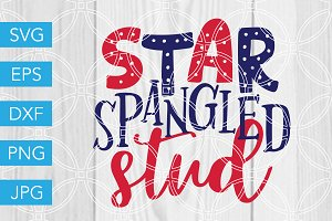 Star Spangled Stud SVG 4th of July