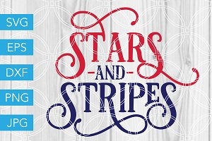 Stars and Stripes SVG Cut File