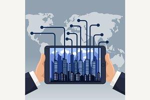 Futuristic City in Modern Device