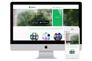 AppName - App Website HTML Template