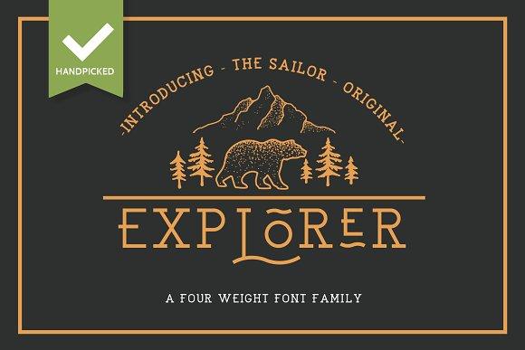 EXPLORER Sailor Original Typeface