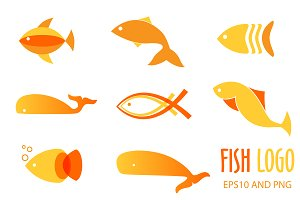Fish logo or icon set