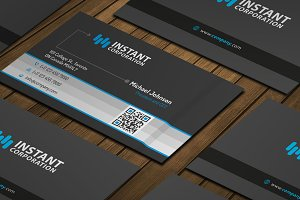 Waves Dark Business Card