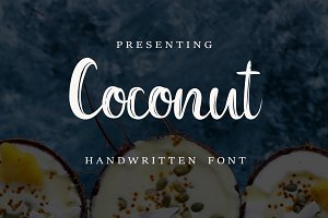 Coconut Font+FREE abstract patterns