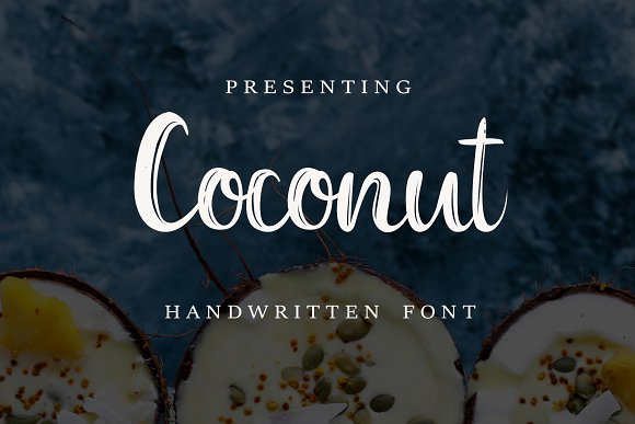 Coconut Font FREE Abstract Patterns