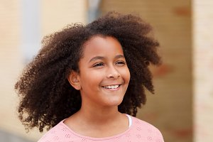 Beautiful girl with afro hair