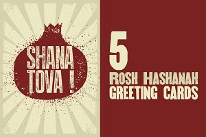 Rosh Hashanah greeting card.
