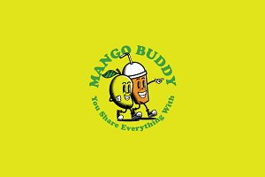 Mango Buddy Logo Template
