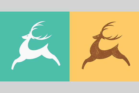 Jumping Deer Logo Template