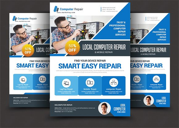Computer Mobile Repair Flyer