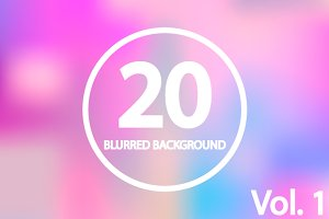 20 Blurred Backgrounds. Vol 1
