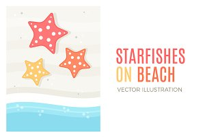 Starfishes on a beach