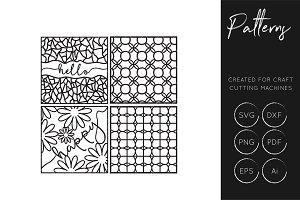 Pattern Greetings - SVG / DXF / EPS