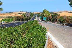 highway across Sicily