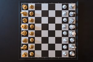 chess pieces on a chessboard