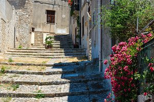 Erice town, Trapani region, Sicily