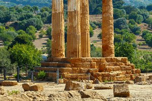 Temple of Dioscuri, Sicily, Italy