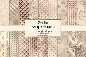 Ivory Mermaid Scale Patterns