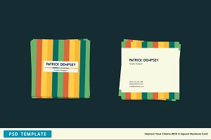 Stripes - Square Business Card