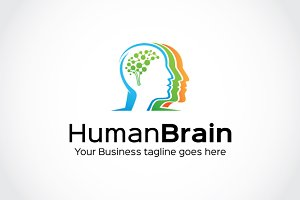 Human Brain Logo Template
