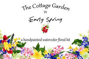 The Cottage Garden in Early Spring