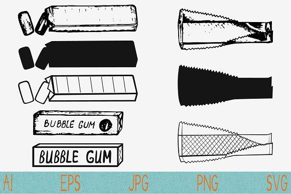Bubble Gum Chewing Gum Vector Svg