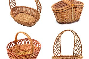 wooden empty baskets