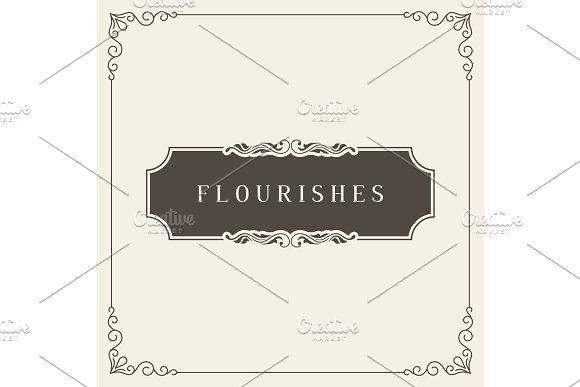 Royal Logo Design Template Vector Decoration Flourishes Calligraphic Elegant Ornament Frame Lines Good For Luxury