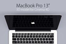 """MacBook Pro 13"""" retina 3D model"""