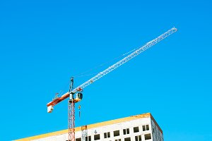 Construction crane background