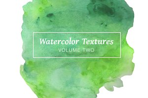 Green Watercolor Textures - Volume 2