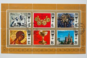Collection of postage stamps